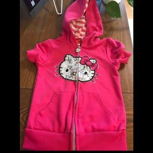 Pink Hello Kitty Zippered hoodie toddler size 5